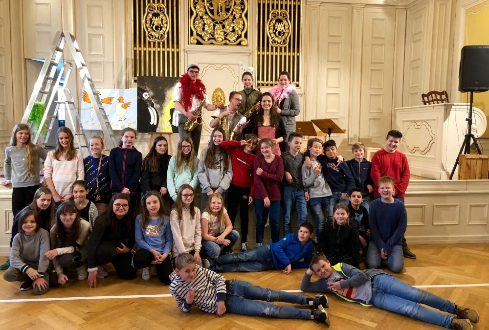 Bilder einer Ausstellung – die 1c im Piccolo-Konzert der Stiftung Mozarteum