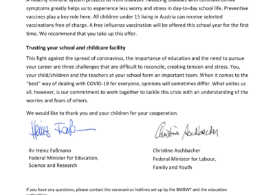 Letter to parents by the Minister for Education2